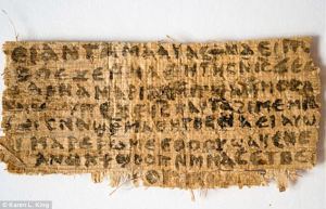 Explosive: The ancient papyrus that apparently proves that Jesus was married to Mary Magdalene.