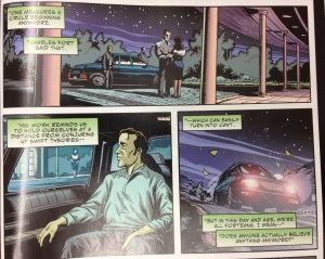 These panels from Volume 1 of Saucer Country dip a toe into the ideas of Charles Fort.