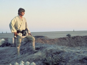 Our future, like Luke Skywalker's, cannot be seen with our eyes and lies beyond the horizon.