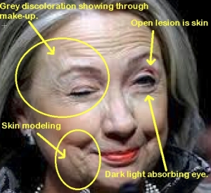 Conspiracy theorists like David Icke believe that Hillary Clinton is part of a secret reptilian matrix.